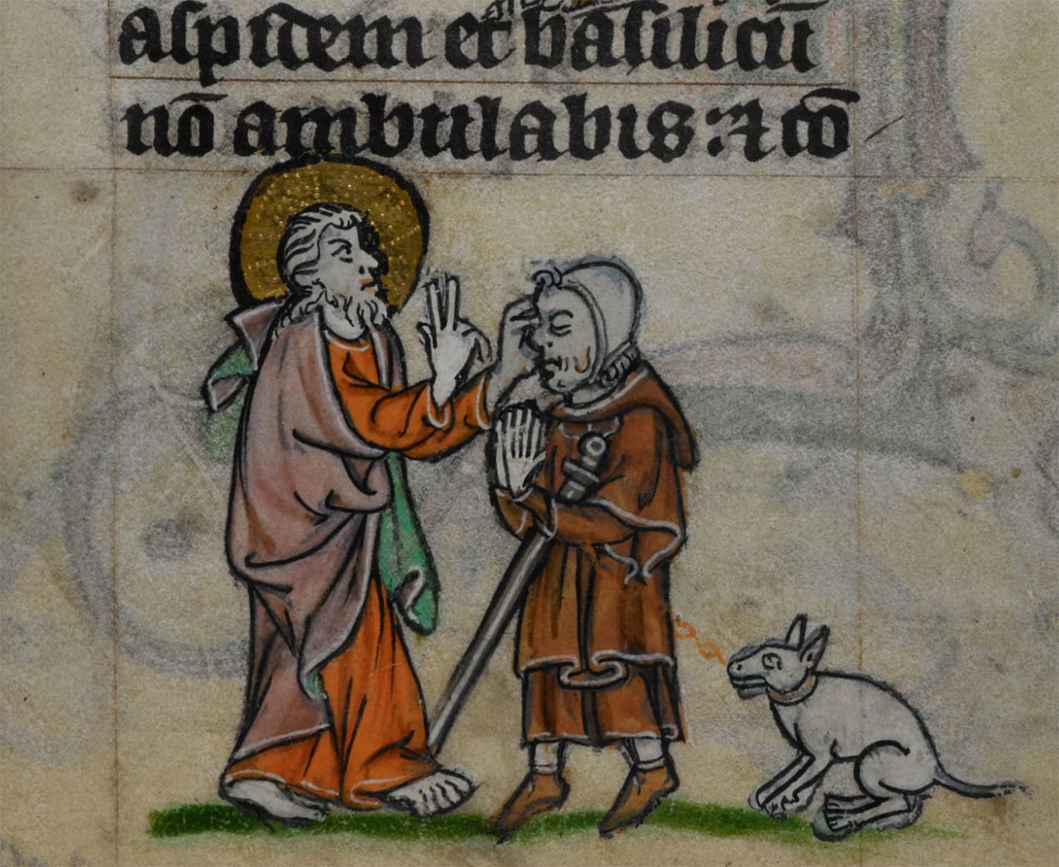 Picture showing Christ healing a blind man