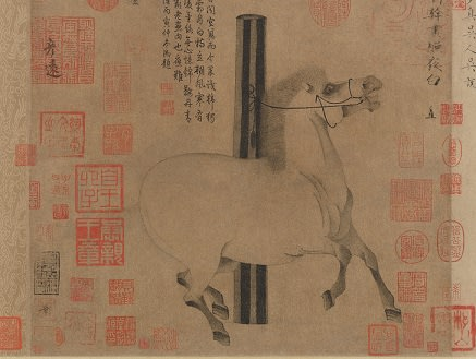 Picture showing Mid-eight century handscroll made during the Tang dynasty in China
