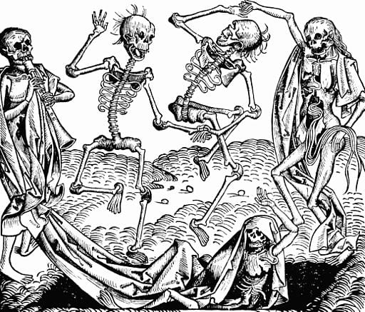 Image showing Dance of Death (1493), from the Nuremberg Chronicles