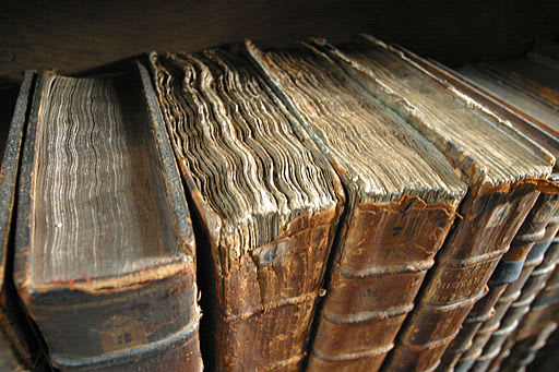 Image showing old book bindings