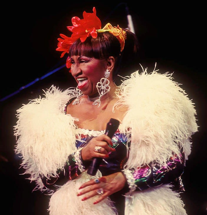Celia Cruz performs at Alice Tully Hall, 1992