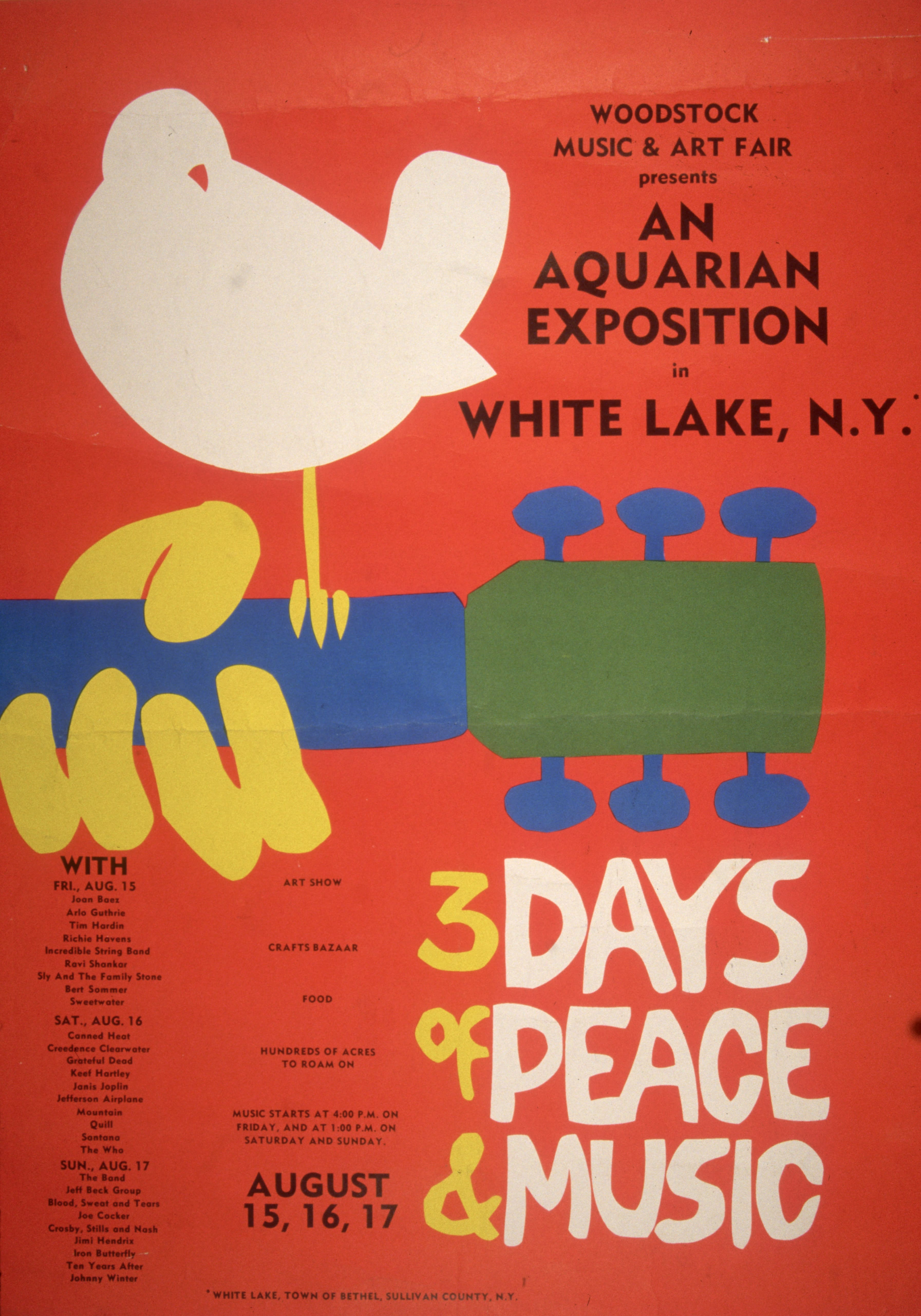 Promotional poster for Woodstock Festival, 1969 (Getty Images)
