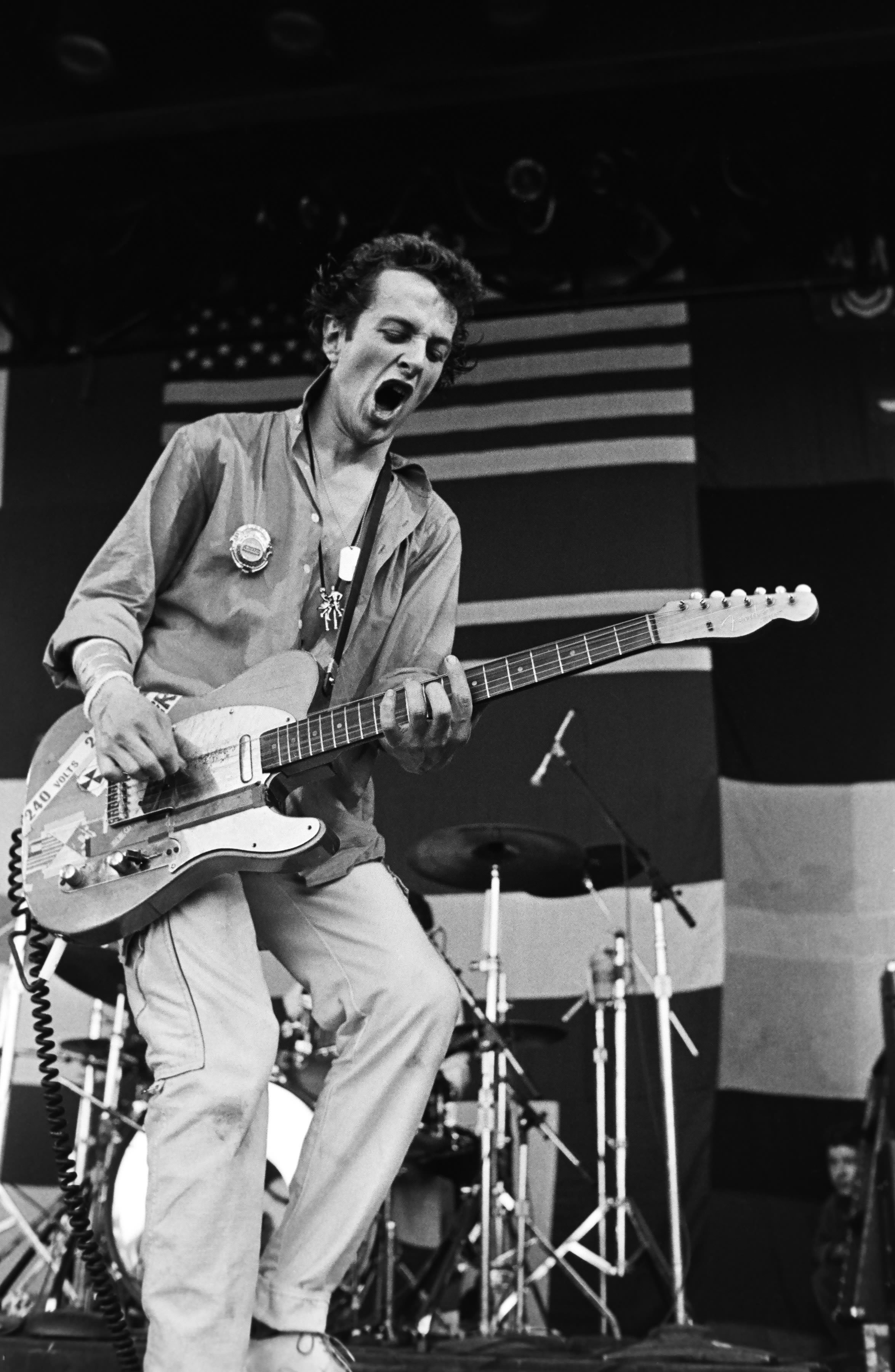 Joe Strummer, of punk rock band The Clash, performs onstage (Getty Images)