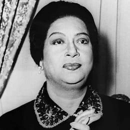 Undated portrait of Egyptian singer Umm Kulthum