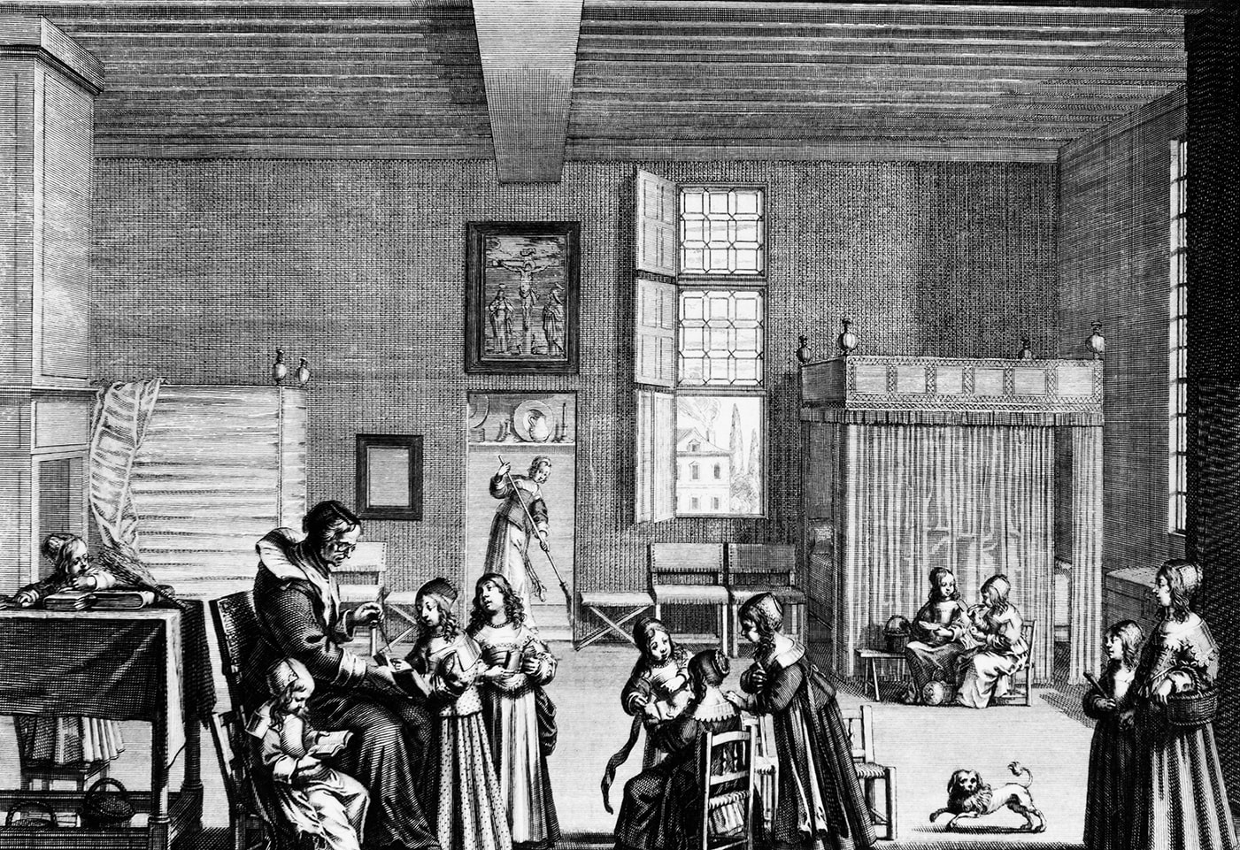 Image showing a bourgeois school of girls in Paris.