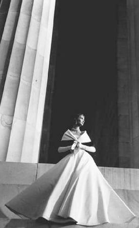 Photograph of Model at Lincoln Memorial