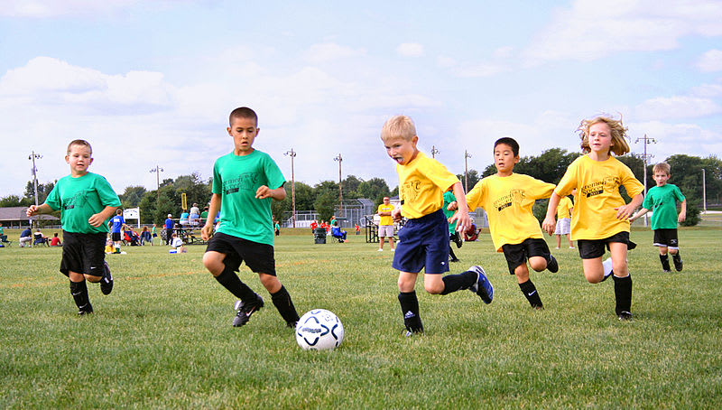 Youth soccer in small town USA (Wikimedia Commons)