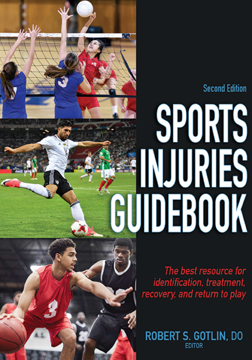 Book cover for the Sports Injuries Guidebook (Fourth Edition)