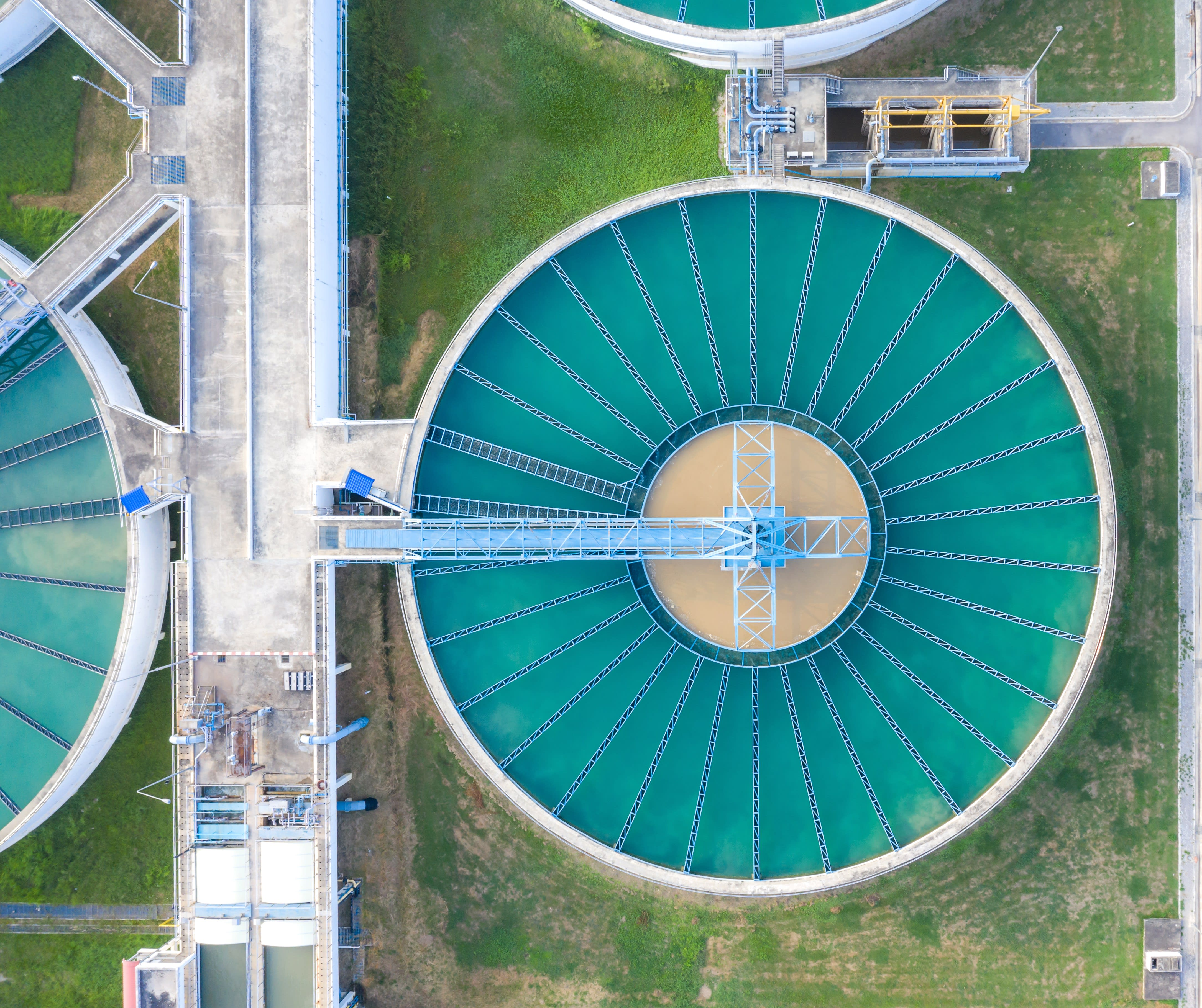 A water processing plant