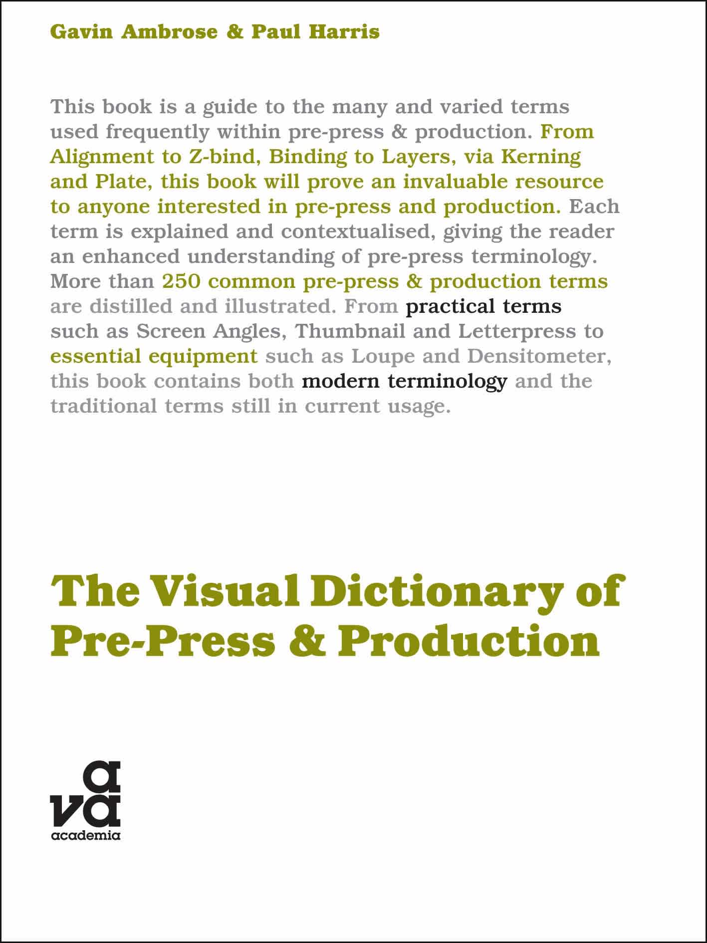 The Visual Dictionary of Pre-Press & Production