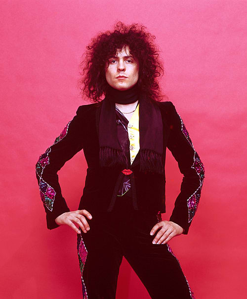 Studio photo of Marc Bolan from the bank T-Rex, taken in 1970