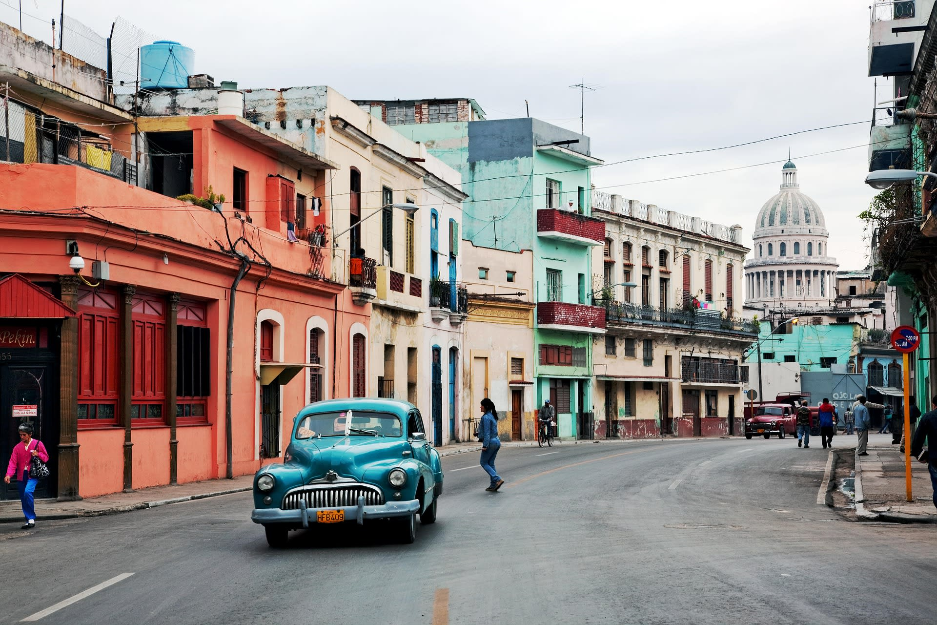 Photo of street in Havana, Cuba