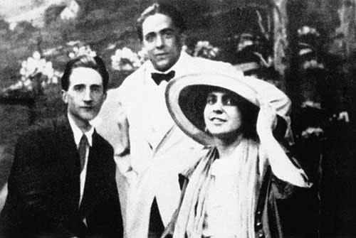 Marcel Duchamp, Francis Picabia and Beatrice Wood