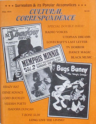 Cover of the 1979 Special issue of the magazine Cultural Correspondence