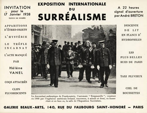 1938 International Exhibition of Surrealism in Paris Poster