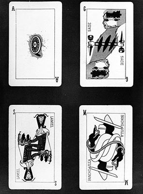Four cards created by surrealists in Marseilles in 1941