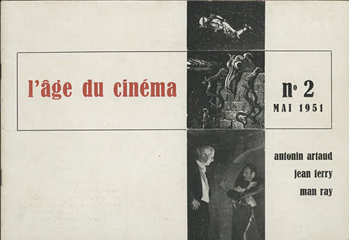Cover of the second issue of the journal L'Age du Cinema