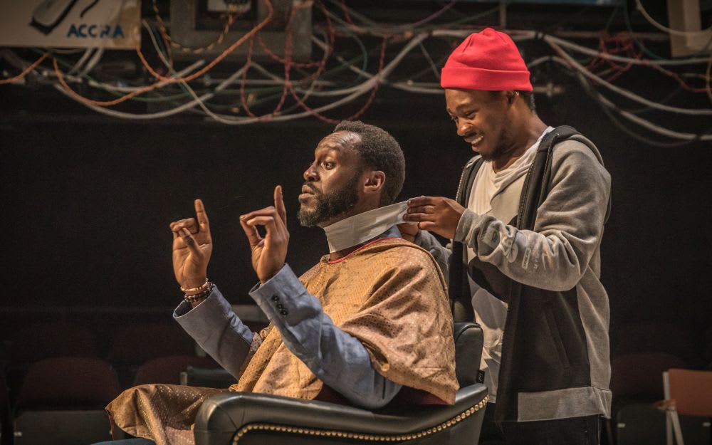 Barber Shop Chronicles production image