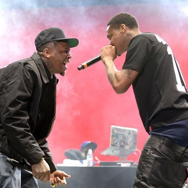 Rapper YG performs onstage at the Los Angeles Memorial Coliseum on November 14, 2015 in Los Angeles, California
