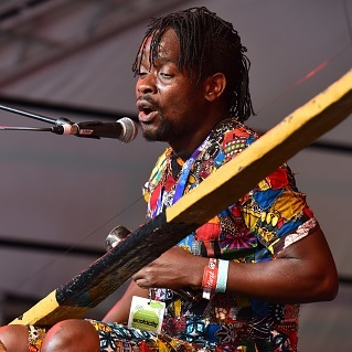 Malawian music artist Gasper Nali performs on stage in 2018. (Photo by C Brandon/Redferns)