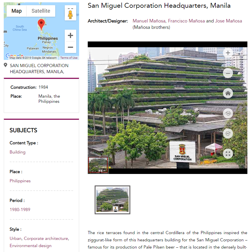 San Miguel Headquarters image on the homepage