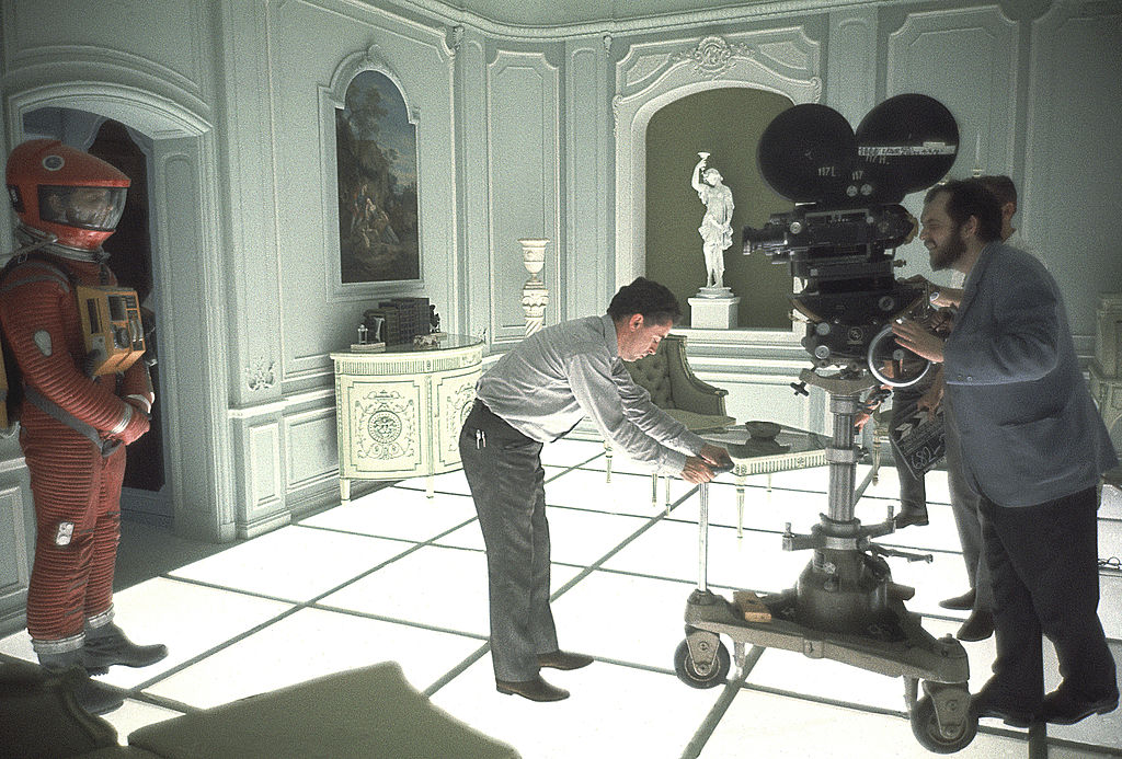 Behind the scenes image of 2001: A Space Odyssey