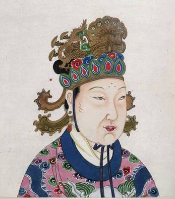 Image taken from An 18th century album of portraits of 86 emperors of China, with Chinese historical notes.