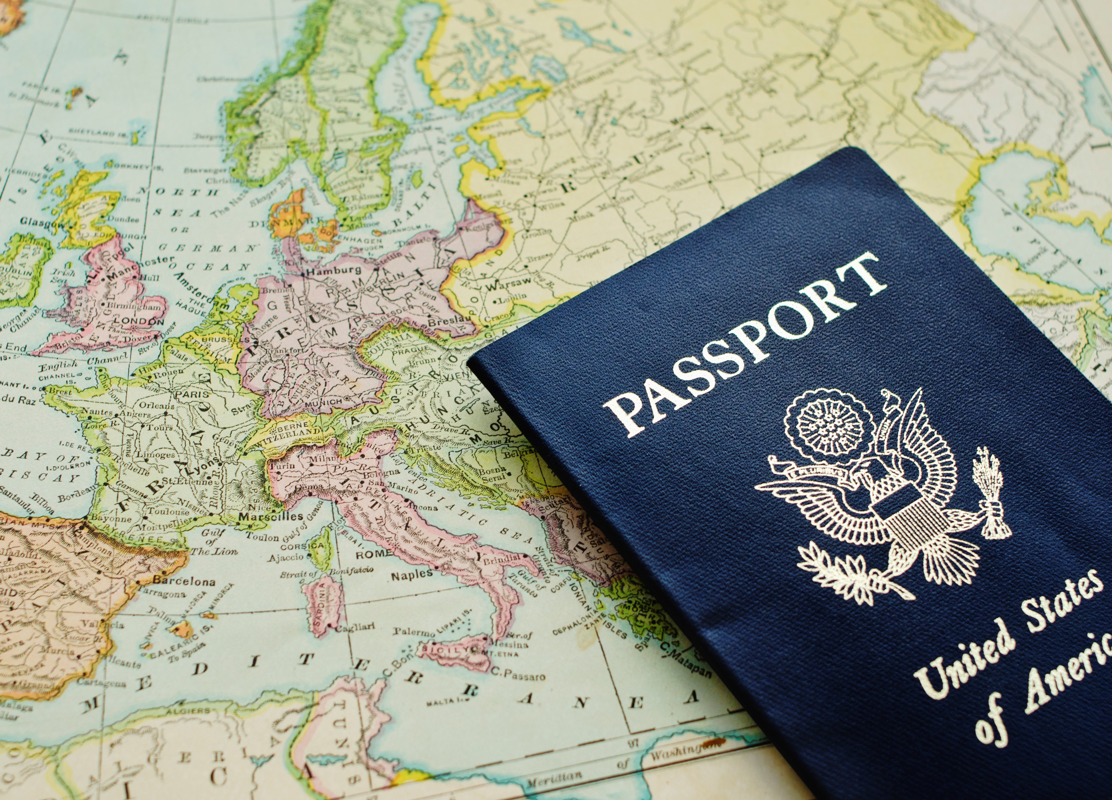 Image of a passport. ©Getty Images / Tetra Images)