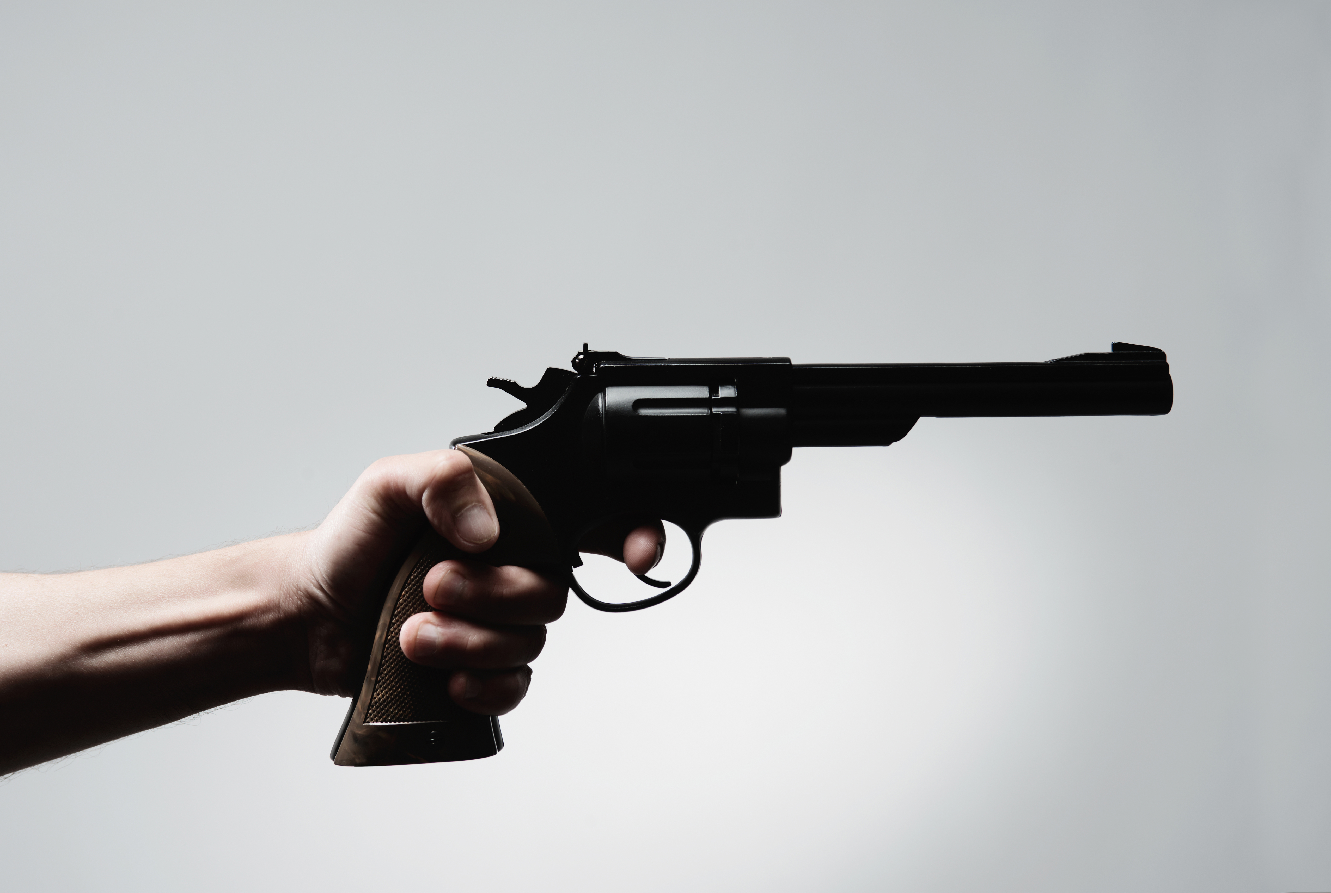 Image of a handgun. ©Getty Images / PM Images