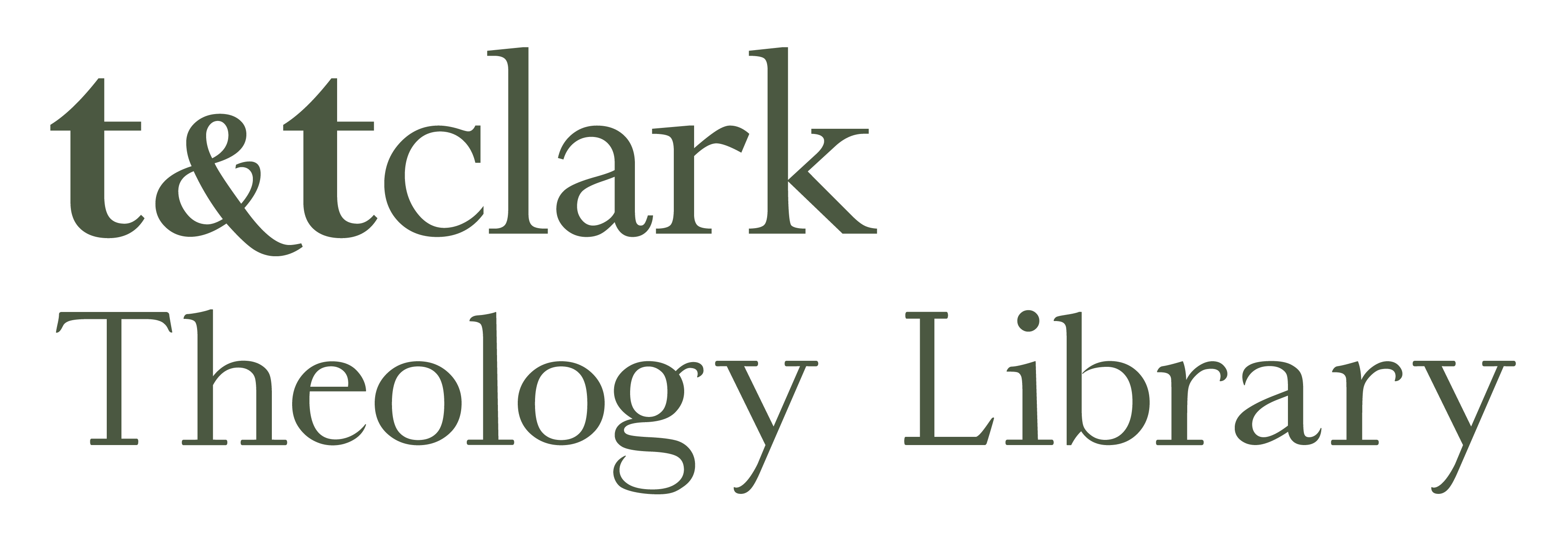 T&T Clark Theology Library logo