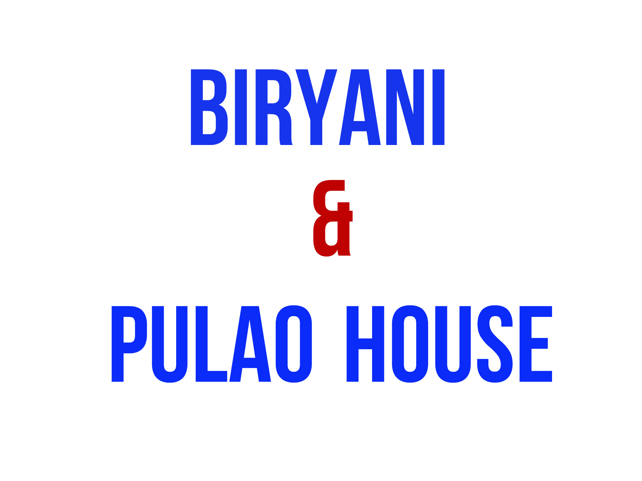 Biryani and Pulao Restaurant