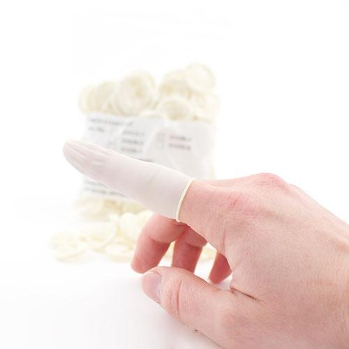 Latex Finger Cots, Non-Sterile 3 (M)