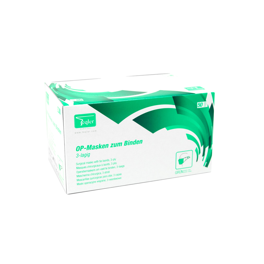 Surgical Mask, 3-ply green