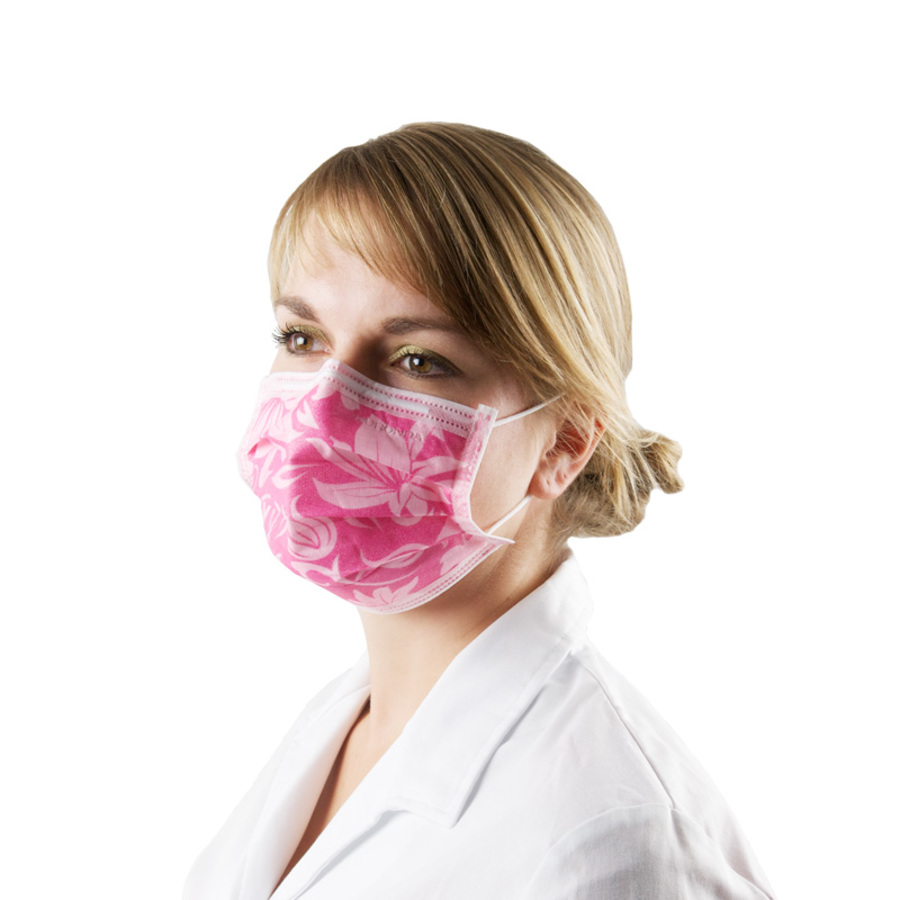 """Monoart"" Surgical Mask with flower pattern rose"