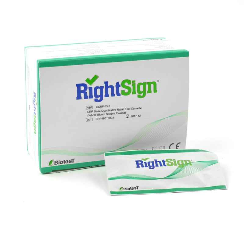 Right Sign semi-quantitative CrP-Test, 25 Cartridges