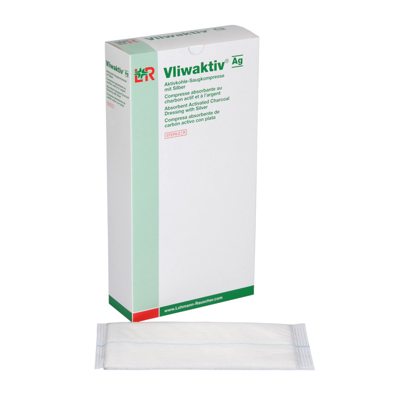 Vliwaktiv Ag Activated Charcoal Dressing