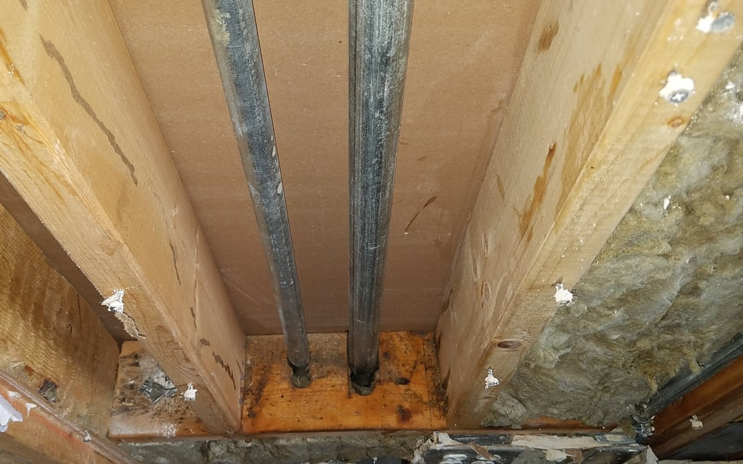 Mold removed from a crawlspace in Nashville by Blue Chip Restoration