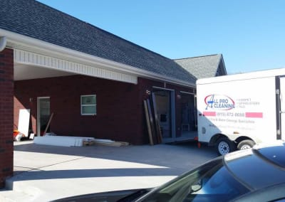 Blue Chip Restoration rebuilt this brick carport after a fire destroyed the home