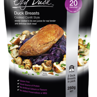 Ezy Duck Duck Breast Confit 280g