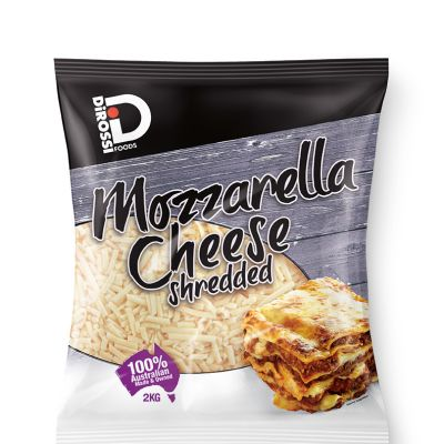 DiRossi Mozzarella Shredded 2kg (WA & QLD)