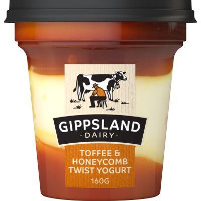 Gippsland Dairy Toffee Honeycomb Yoghurt 160g