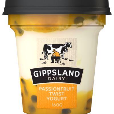 Gippsland Dairy Passionfruit Yoghurt 160g