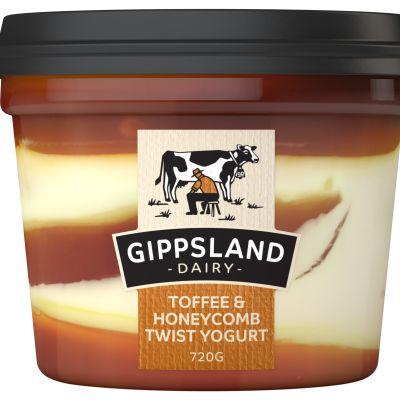 Gippsland Dairy Toffee & Honeycomb Yoghurt 720g