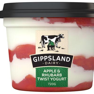 Gippsland Dairy Apple Rhubarb Yoghurt 720g
