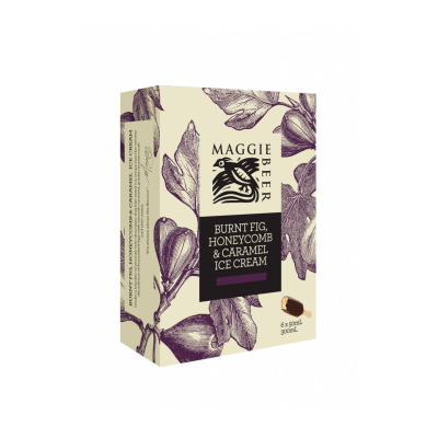 Maggie Beer Icecream Sticks Burnt Fig Honeycomb 300ml (WA & QLD)