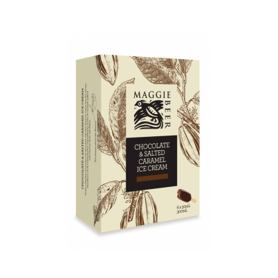 Maggie Beer Icecream Sticks Choc Salted Caramel 300ml (WA & QLD)