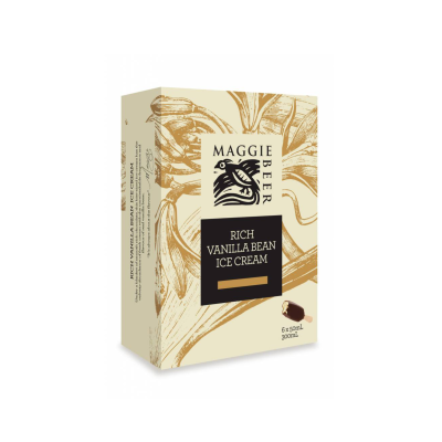 Maggie Beer Icecream Sticks Rich Vanilla Bean 300ml (WA & QLD)