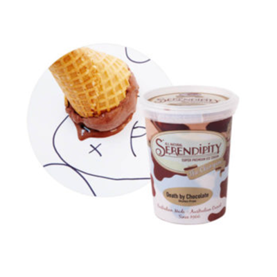 Serendipity Icecream Death By Chocolate 500ml  (WA)