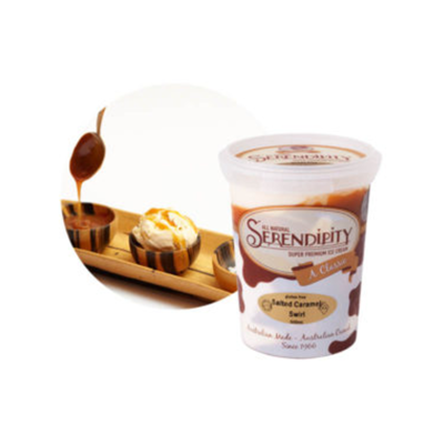 Serendipity Icecream Salted Caramel Swirl 500ml (WA)
