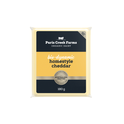 Paris Creek Farms Bio-Dynamic Homestyle Cheddar 180g (WA)